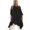 Fair-trade black cotton summer smock/tunic