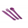 Lifeventure ellipse purple clip together plastic cutlery