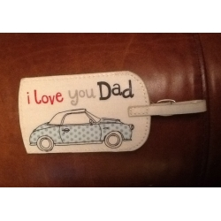 Gisela Graham I Love You Dad Oilcloth Luggage Tag