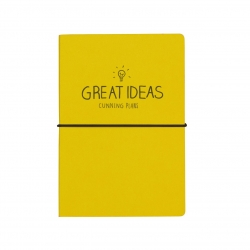 Happy Jackson yellow Great Ideas travel journal/planner