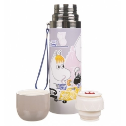 Moomin grey Tea Time thermos flask by Disaster Designs