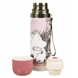Moomin Pink Love thermos flask by Disaster Designs