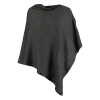 Luxury Mongolian Cashmere Travel Wrap/Poncho with buttons, charcoal