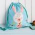 Daisy the Rabbit cotton drawstring bag