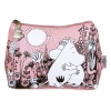 Moomin Love black, pink and white make-up purse*