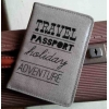 Gisela Graham linen text oilcloth travel passport cover