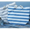 Gisela Graham Stripe Canvas Beach Bag