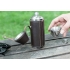 Kikkerland leather hunter's camping flask and shot glasses 8oz
