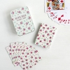 "Travel playing cards in tin ""la petit rose"""