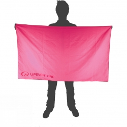 Lifeventure Soft Fibre Trek Towel – Giant Pink