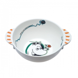Moomin Melamine Baby Cereal Bowl with two handles