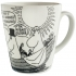 "Moomin Melamine Black and White Large Picnic Cup ""I'm afraid so dear!"""