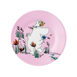 Moomin pink melamine picnic plate - Snorkmaiden