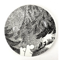 Moomin melamine picnic plate - The Meeting
