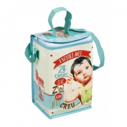 "Natives Mojito isothermic baby milk bottle cooler bag ""Biberon, une petit faim"""