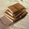 Nkuku Fairtrade rustic leather albums, travel journals and frames