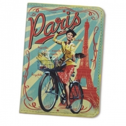 Natives French 1950s vintage retro Paulette Paris holiday passport cover