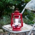 Vintage Style  Large Storm Lantern - Red, LED, Battery Operated