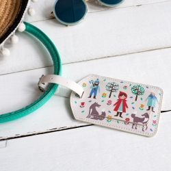 Little Red Riding Hood Luggage Tag