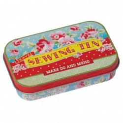 Paisley park travel sewing kit in a tin