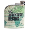 Wild and Wolf Cartography map hip flask