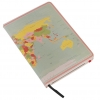 World map A5 travel journal - plain paper
