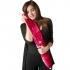 Yuyu luxury coral red fleece long hot water bottle