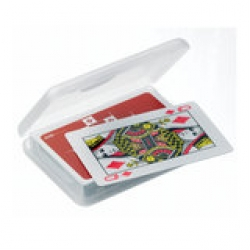 Travel playing cards in plastic box by Design Go