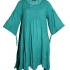 Fair-trade turquoise summer smock/tunic