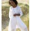 Fair-trade white summer smock/tunic